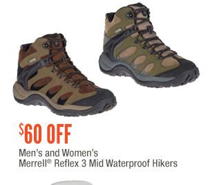 Men's and Women's Merrell Reflex 3 Mid Waterproof Hikers