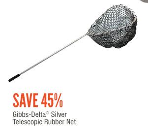 Gibbs-Delta Silver Telescopic Rubber Net