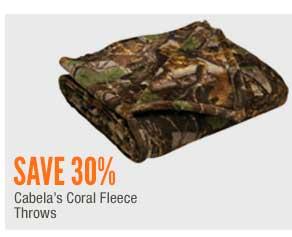Cabela's Coral Fleece Throws