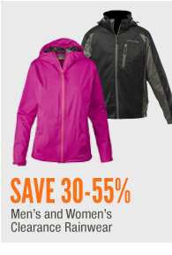 Men's and Women's Clearance Rainwear